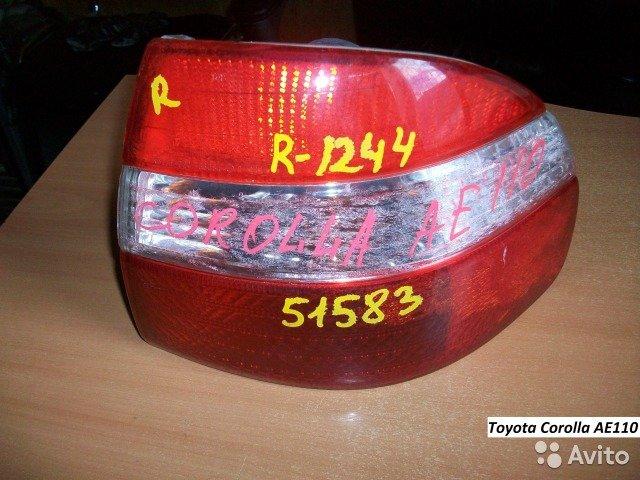 Фонарь правый Toyota Corolla Тойота Королла AE110 для Toyota Corolla